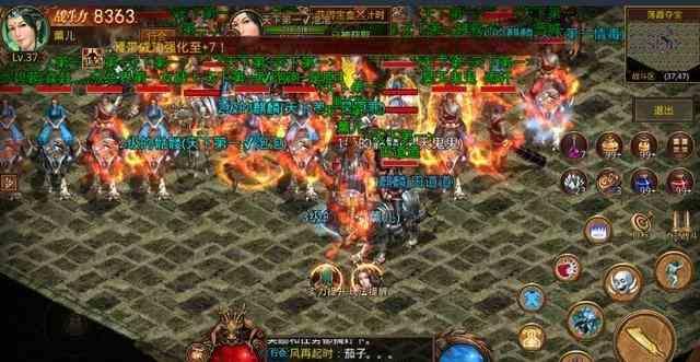 传奇sf的战士新手初步接触游戏操作方式